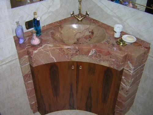 MondialMarmi Portfolio lavabo rosso mury
